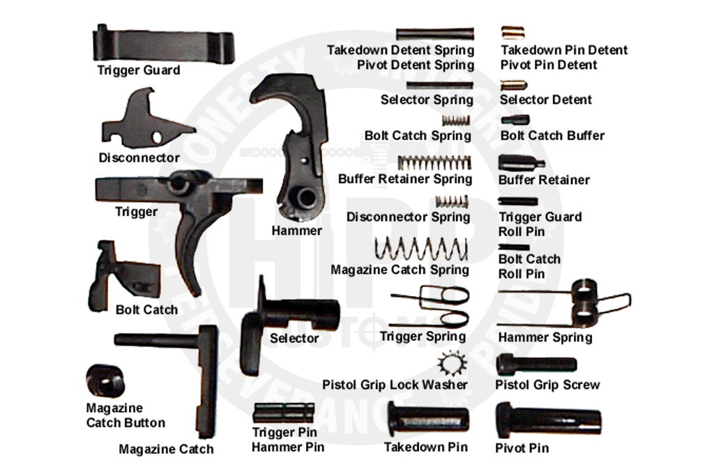 Hipp Customs Lower Receiver Parts Kit Hipp Customs Firearms Manufacturing Custom Cnc Machine Work