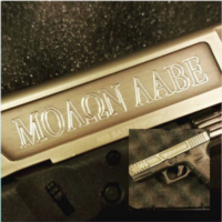 A little #custom #engraving on a #glock19 #g19 with #nibx #customfinish on the #slide.